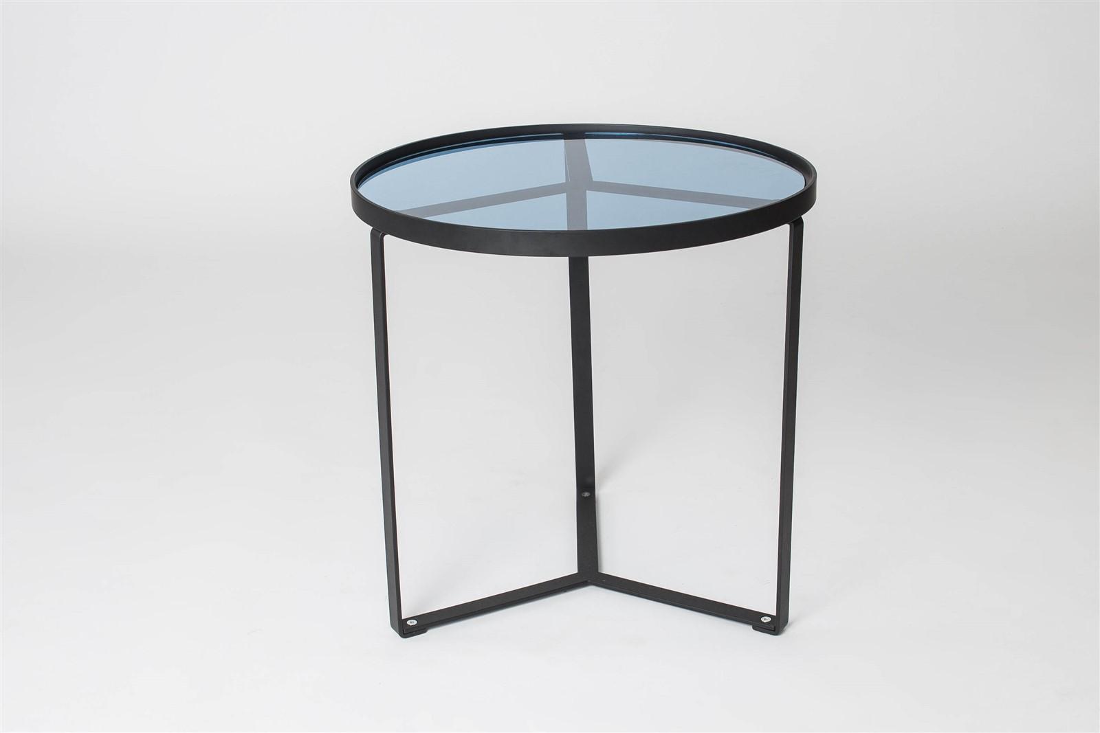 Couchtisch beistelltisch mesa 61x61 cm esg glas edelstahl for Beistelltisch 15 cm
