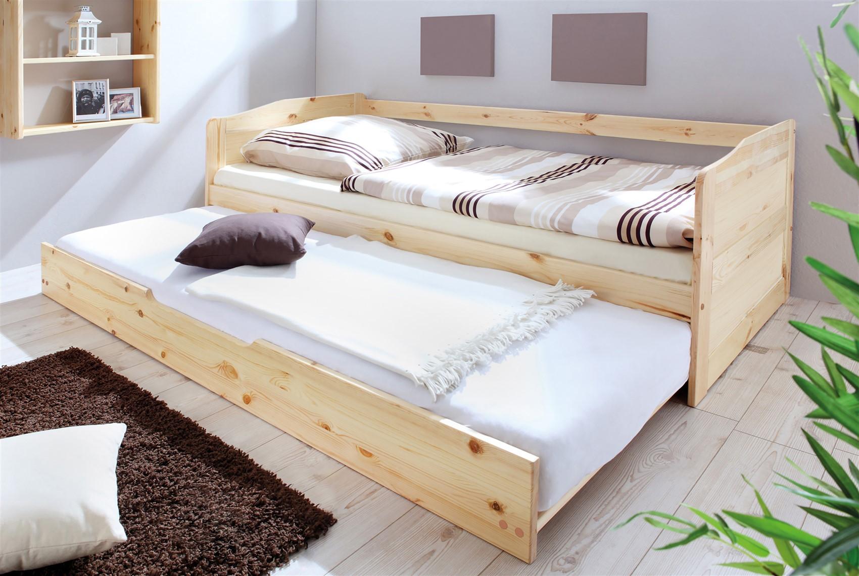Massivholzbett Schlafzimmerbett Franko Set 2 Kernbuche H