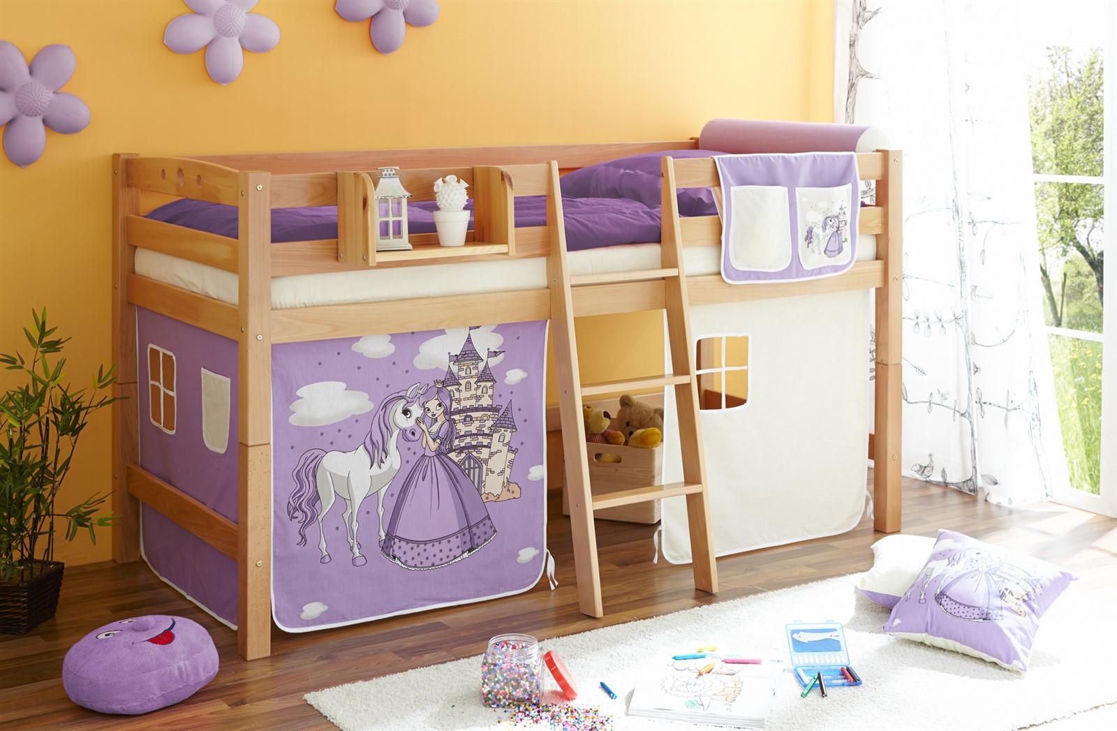 mezzanine de lit lits superpos s en oli h tre massif ebay. Black Bedroom Furniture Sets. Home Design Ideas