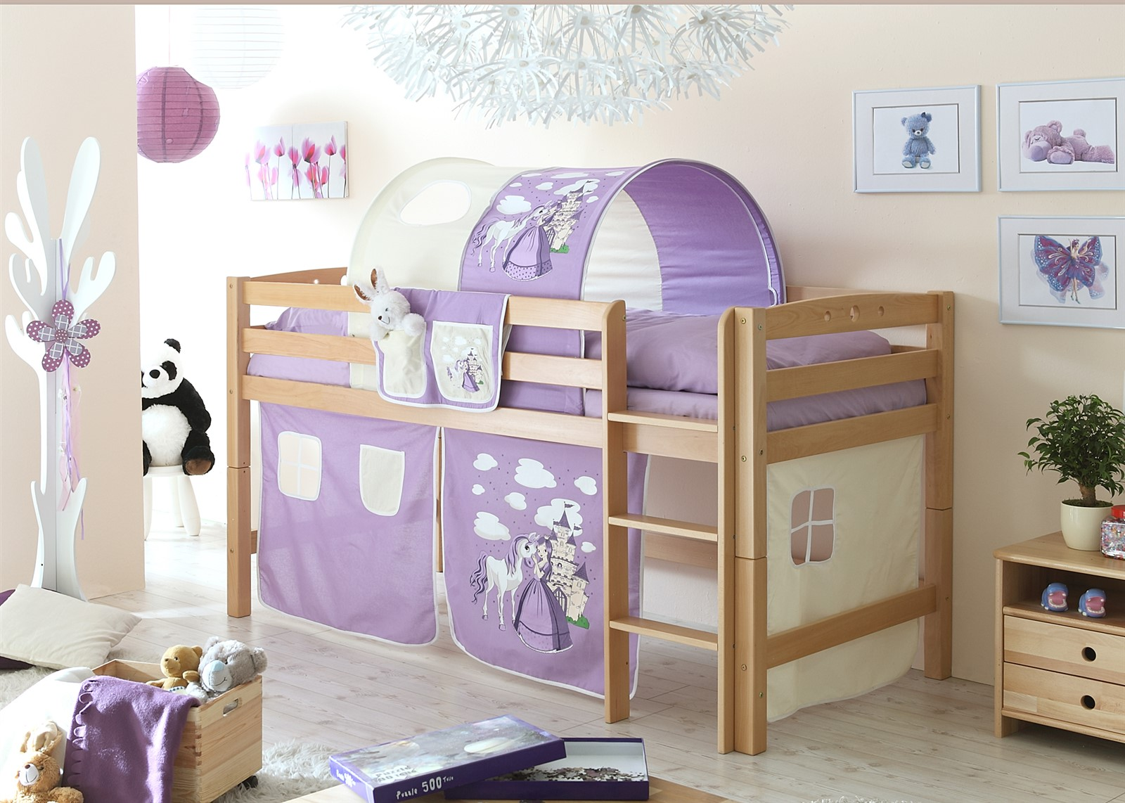 hochbett etagenbett spielbett oli buche massiv ebay. Black Bedroom Furniture Sets. Home Design Ideas